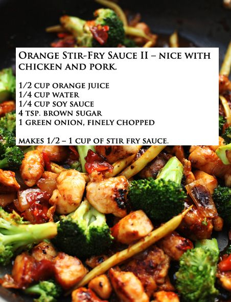 Orange Stir Fry Sauce Just Made This Really Easy And Yummy