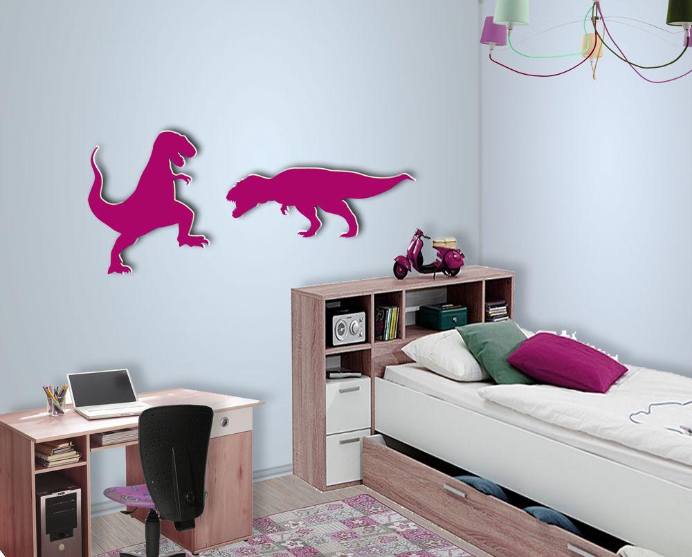 wanddeko dinosaurier zuhause kinder zimmer loberon wanddekoration silberner hirschkopf deko