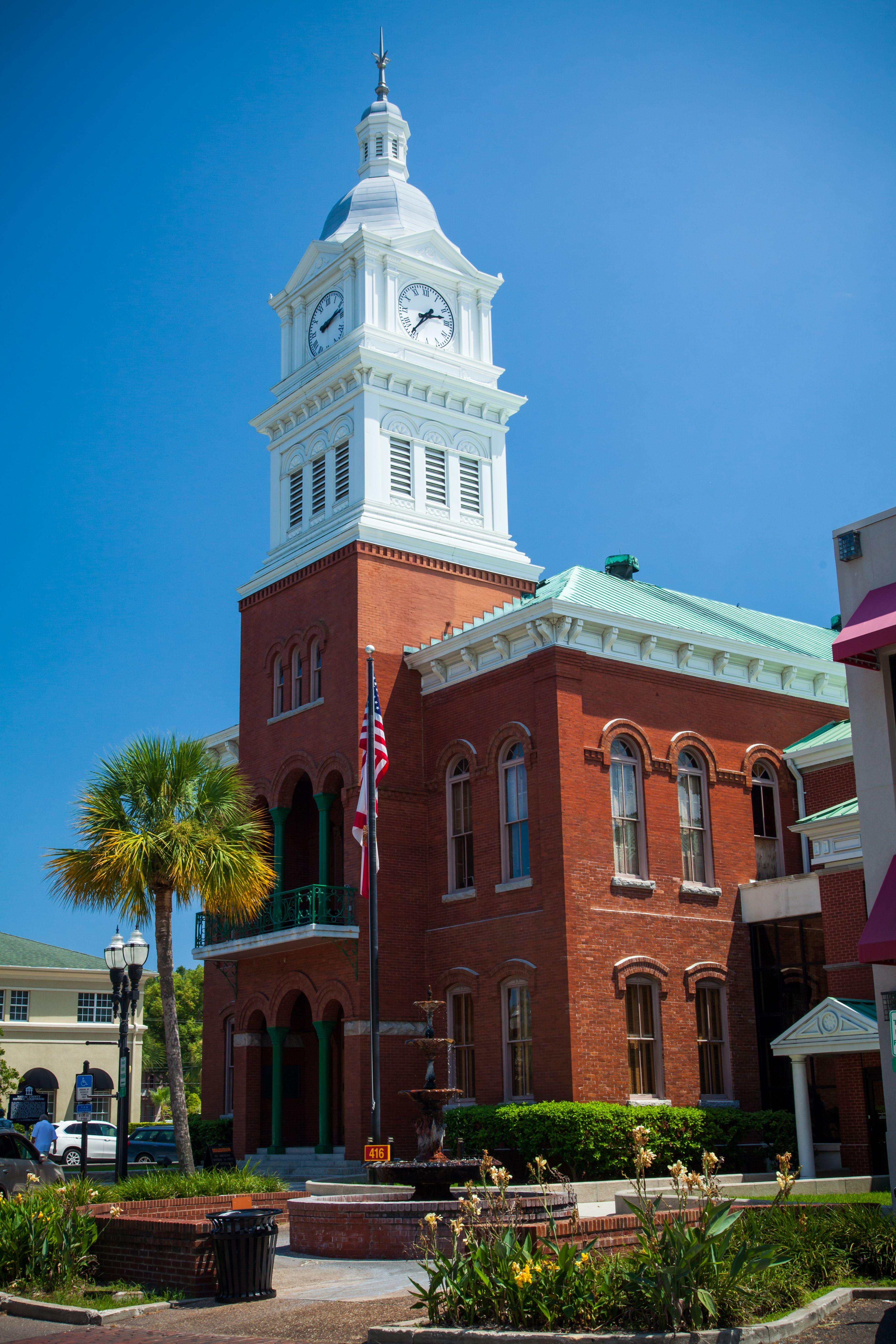 Historic courthouse in Fernandina Beach, FL Fernandina