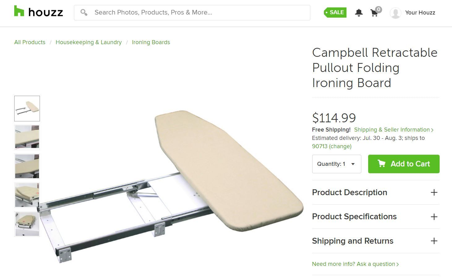 Countertop Pull Out Swivel Ironing Board Folding Ironing Boards
