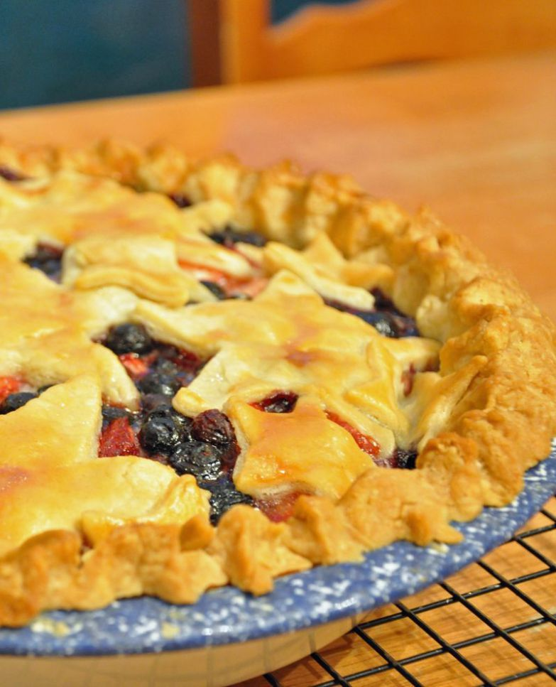Fresh strawberry and blueberry pie mississippi kitchen