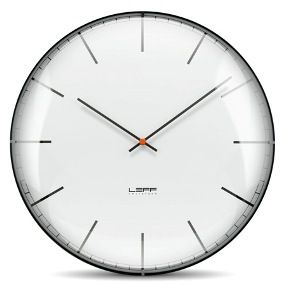 One45 White Index Convex Glass Wall Clock
