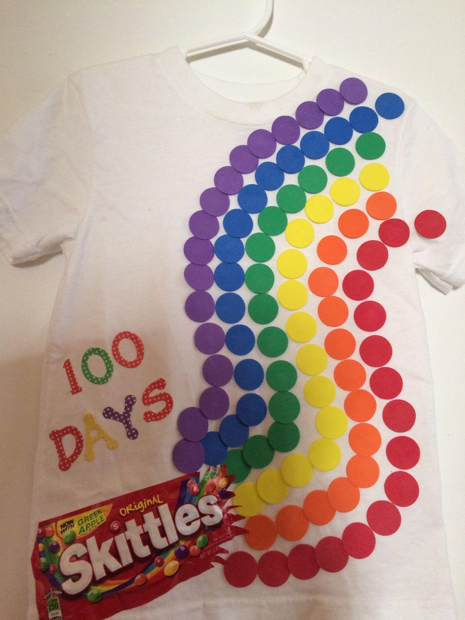 100th Day Of School Skittles Tee