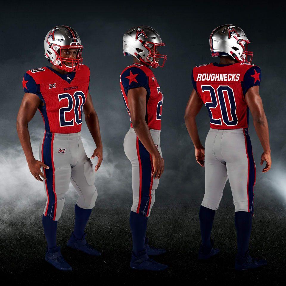 Xfl 2020 Houston Roughnecks Home Uniforms Team Uniforms Xfl Teams Football Uniforms