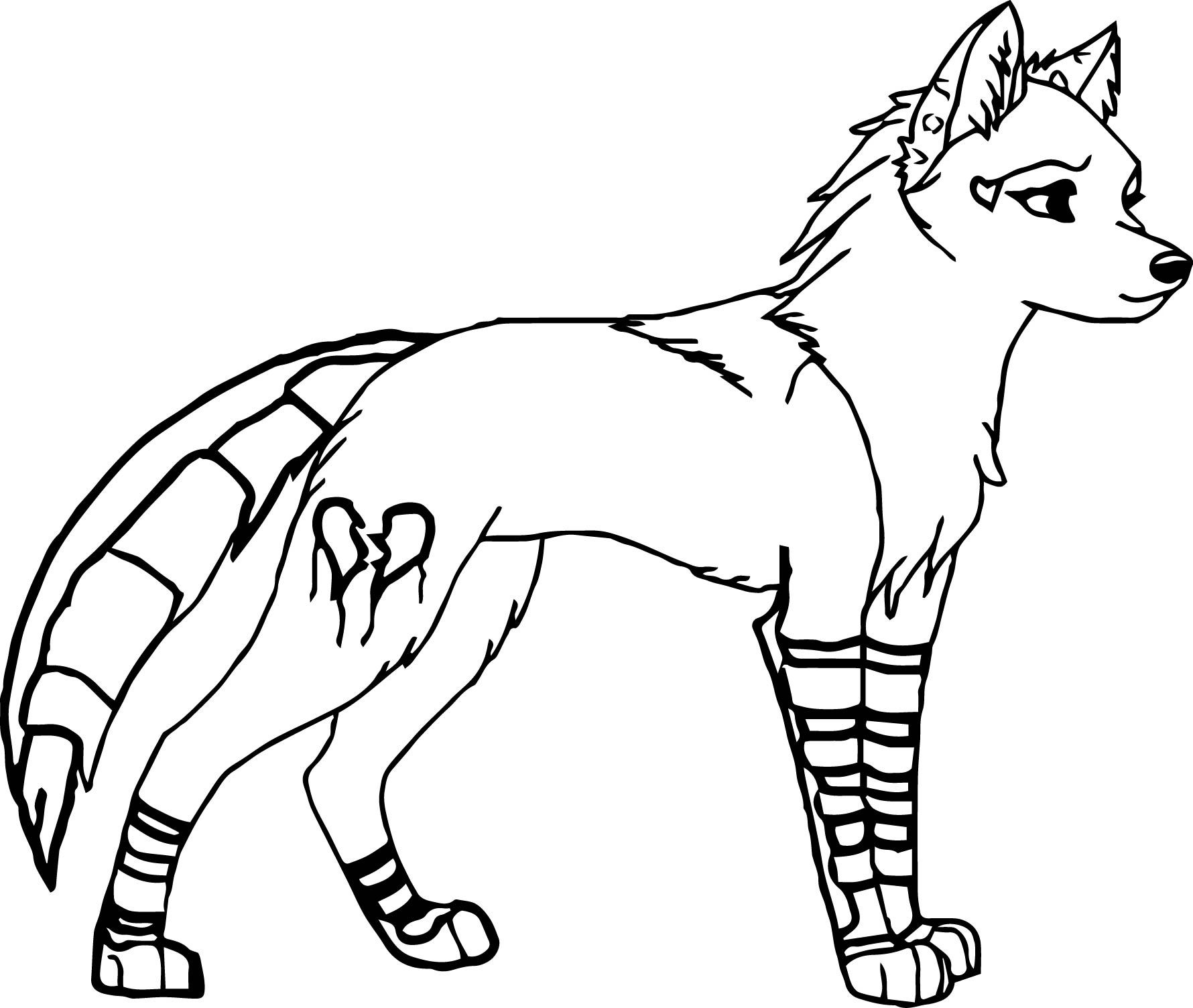 Colouring pages wolf - Nice Female Wolf Coloring Pages