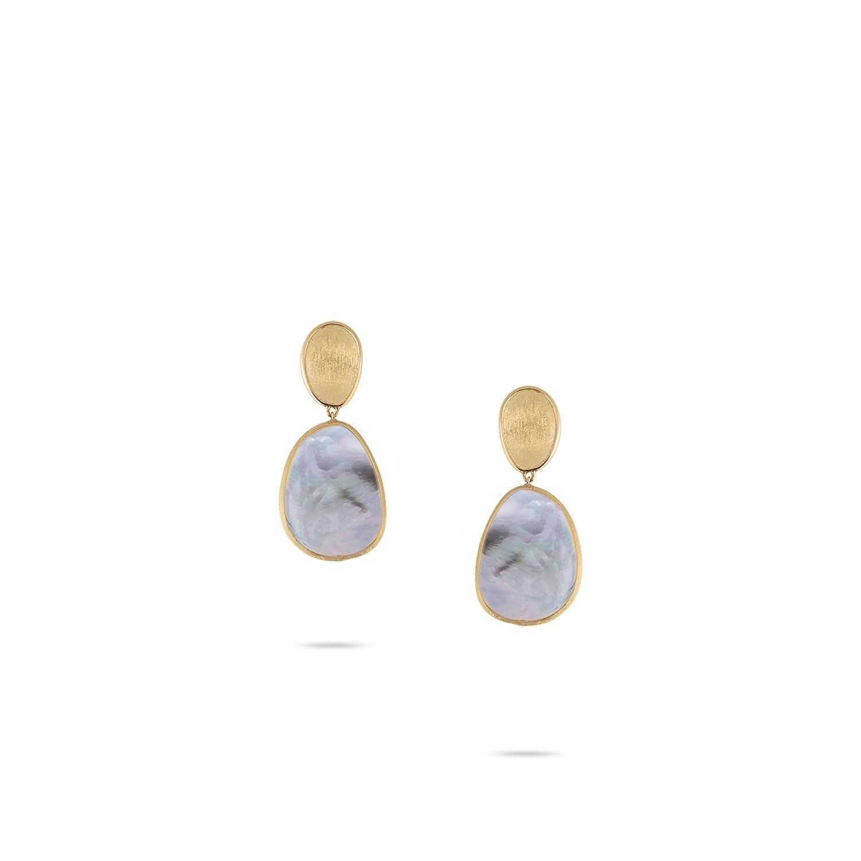 L Artigiano Del Lusso Bijoux lunaria collection 18k yellow gold black mother of pearl