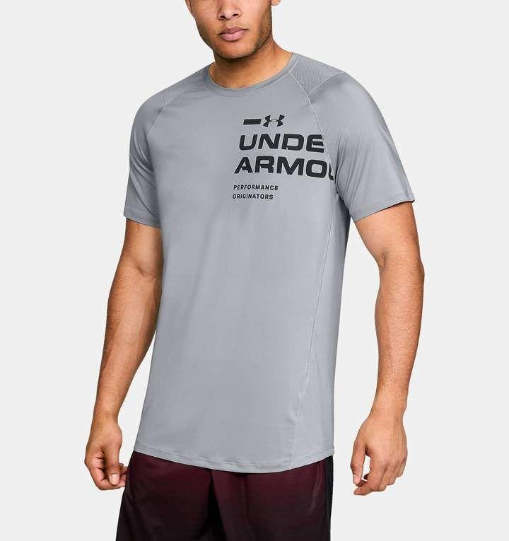 Under Armour Mens MK1 Logo Graphic HeatGear UA Short Sleeve T-Shirt
