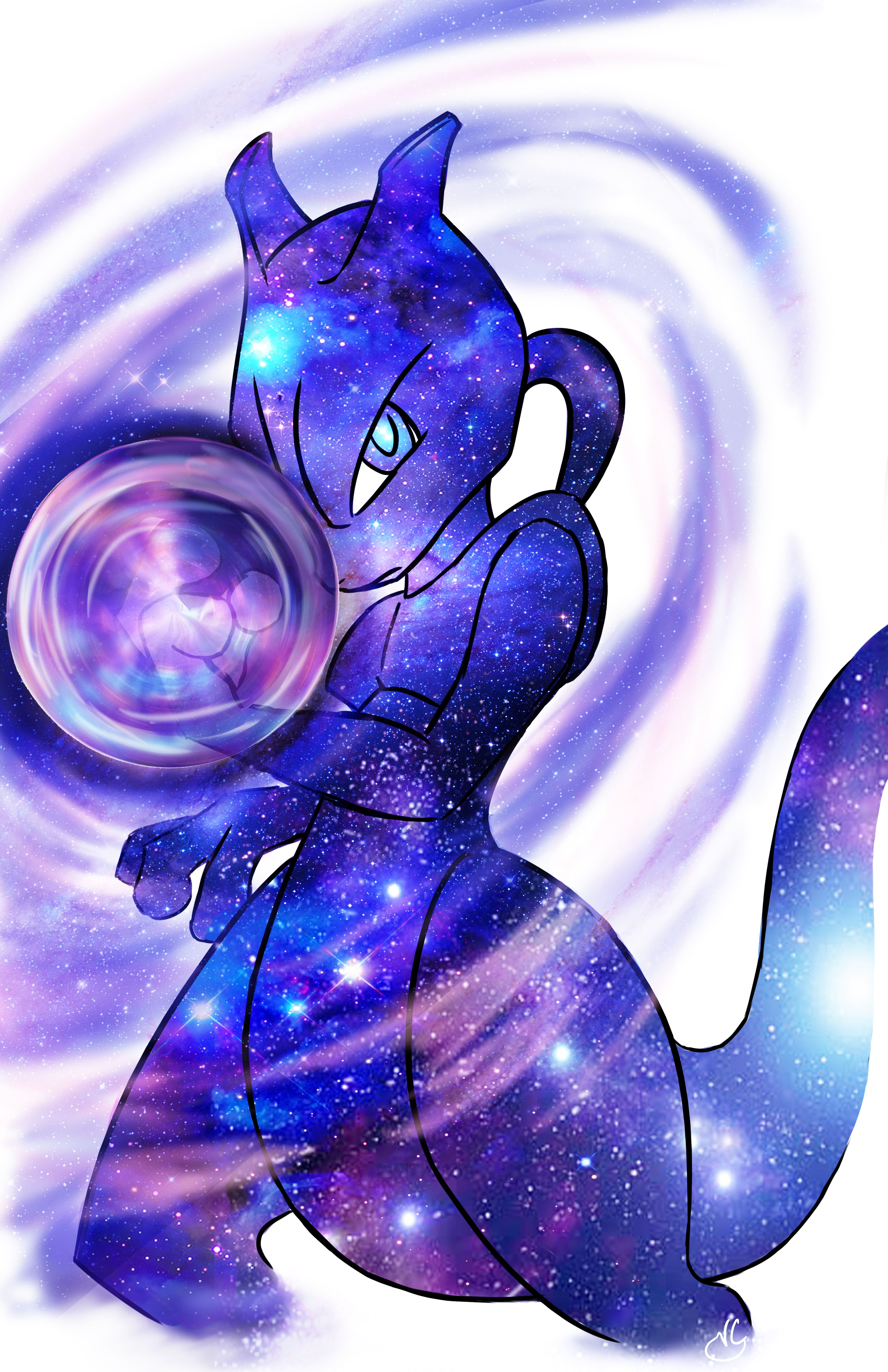Mewtwo The Strongest In The Galaxy Mew And Mewtwo Pokemon Mew Pokemon Drawings