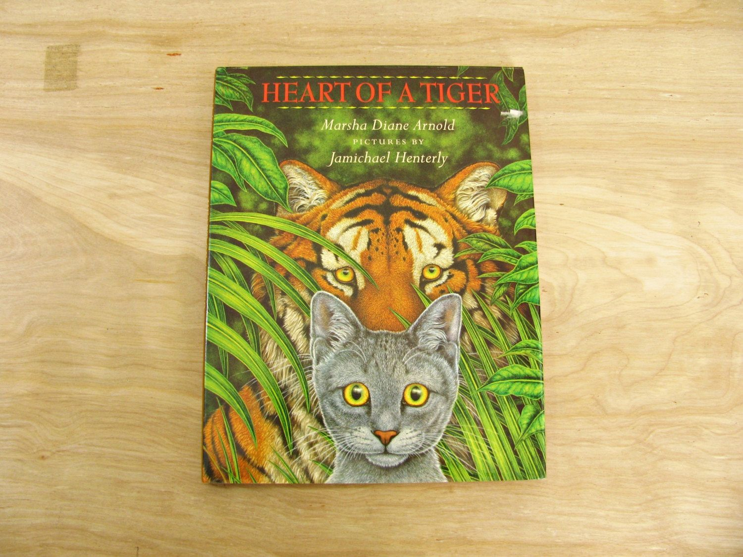 Vintage Children S Book Heart Of A Tiger By Marsha Diane Vintage Children S Books Cat Books Grey Kitten
