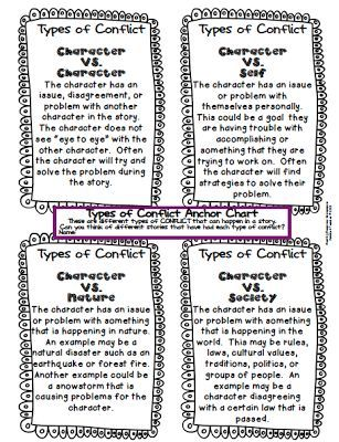 Free Types of Conflict Chart: Students analyze the