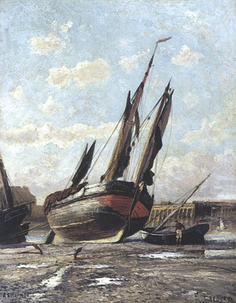 Трепор. Отлив в гавани. 1876 - Боголюбов Алексей Петрович