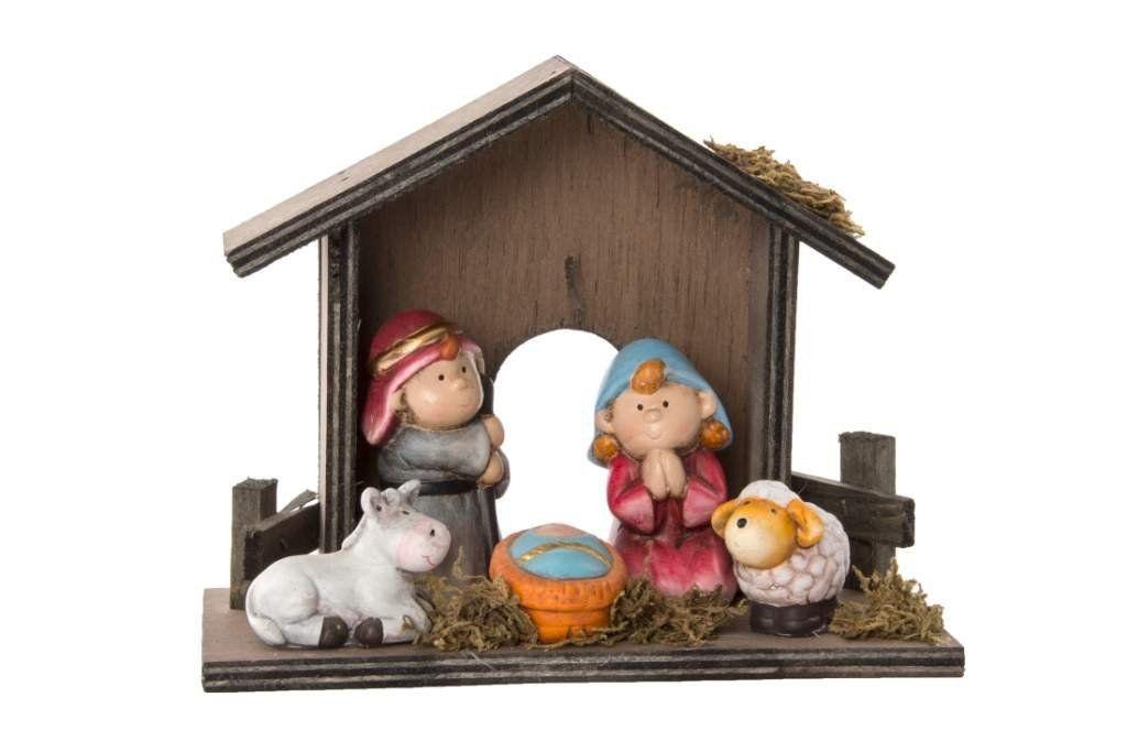 f3e6e582736 Nacimiento de Navidad Infantil Ceramica y Madera  Amazon.es  Hogar ...