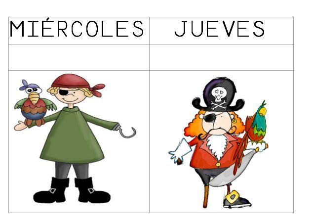 Dias De La Semana Piratas Piratas Ninos Piratas Decoracion De Piratas