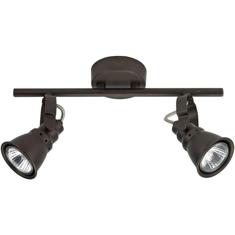 Rampe de 2 spots halogène très tendance Mock Luminaire du0027intérieur - rampe d eclairage pour cuisine