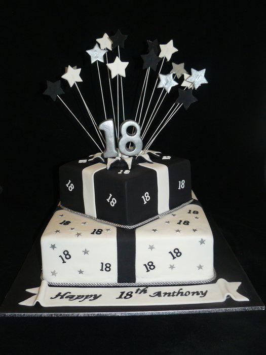 18th Birthday Cakes Black And White Dorty In 2019 Dorty