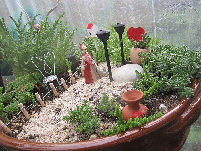 Mini farolas para mini jardin jardines mini jardines jardines y jardines de hadas en miniatura - Farolas de jardin ...