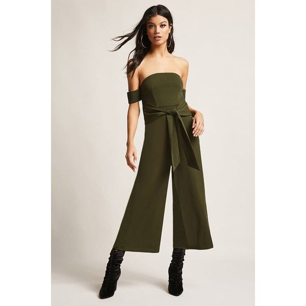 aaf7a25283c Forever21 Selfie Leslie Culotte Jumpsuit (70 NZD) ❤ liked on Polyvore  featuring jumpsuits