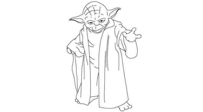 Learn how to draw yoda using this easy step by step image tutorial