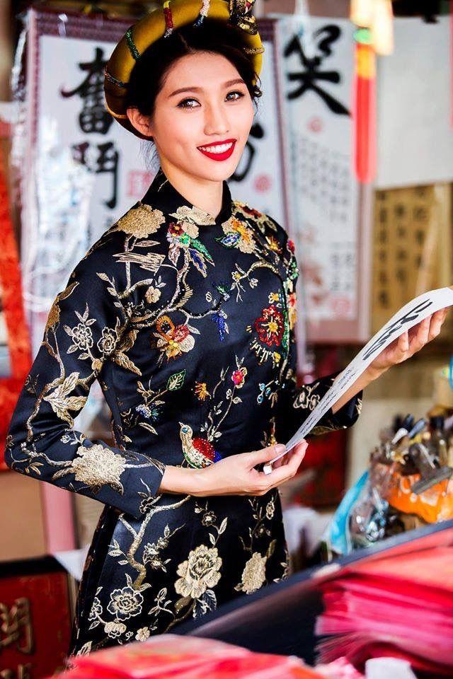 Tăng Thanh Hà đẹp dịu dàng với áo dài nhung-8 | Ao dai