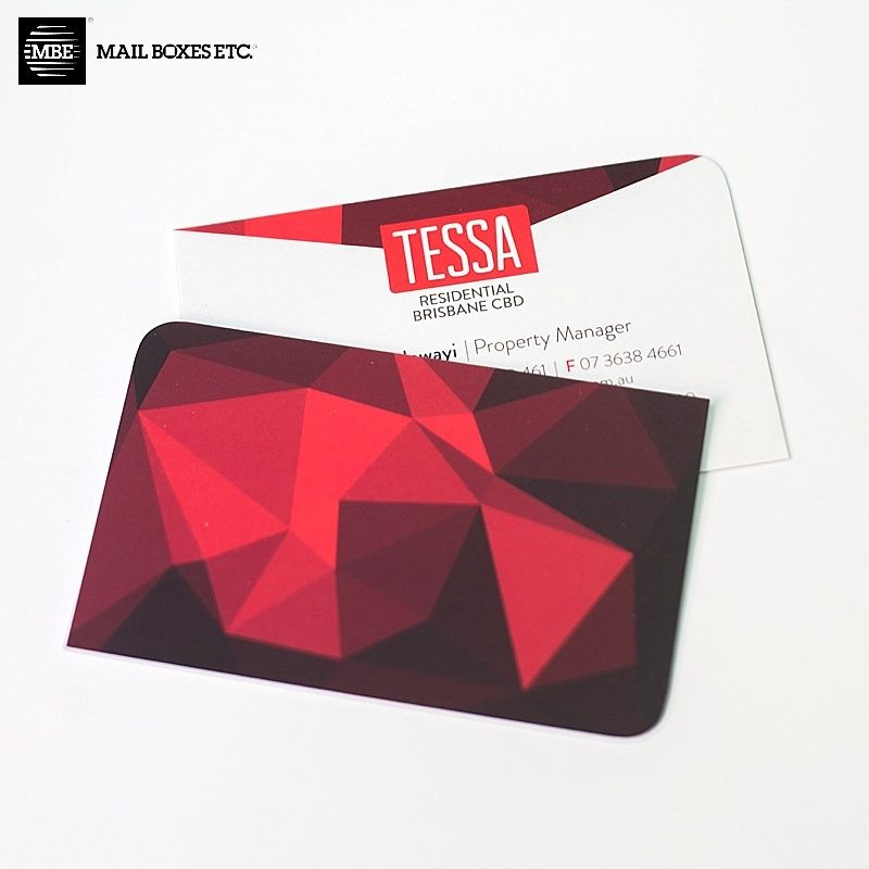 Matte Cello and two round corners make these Business Cards for ...