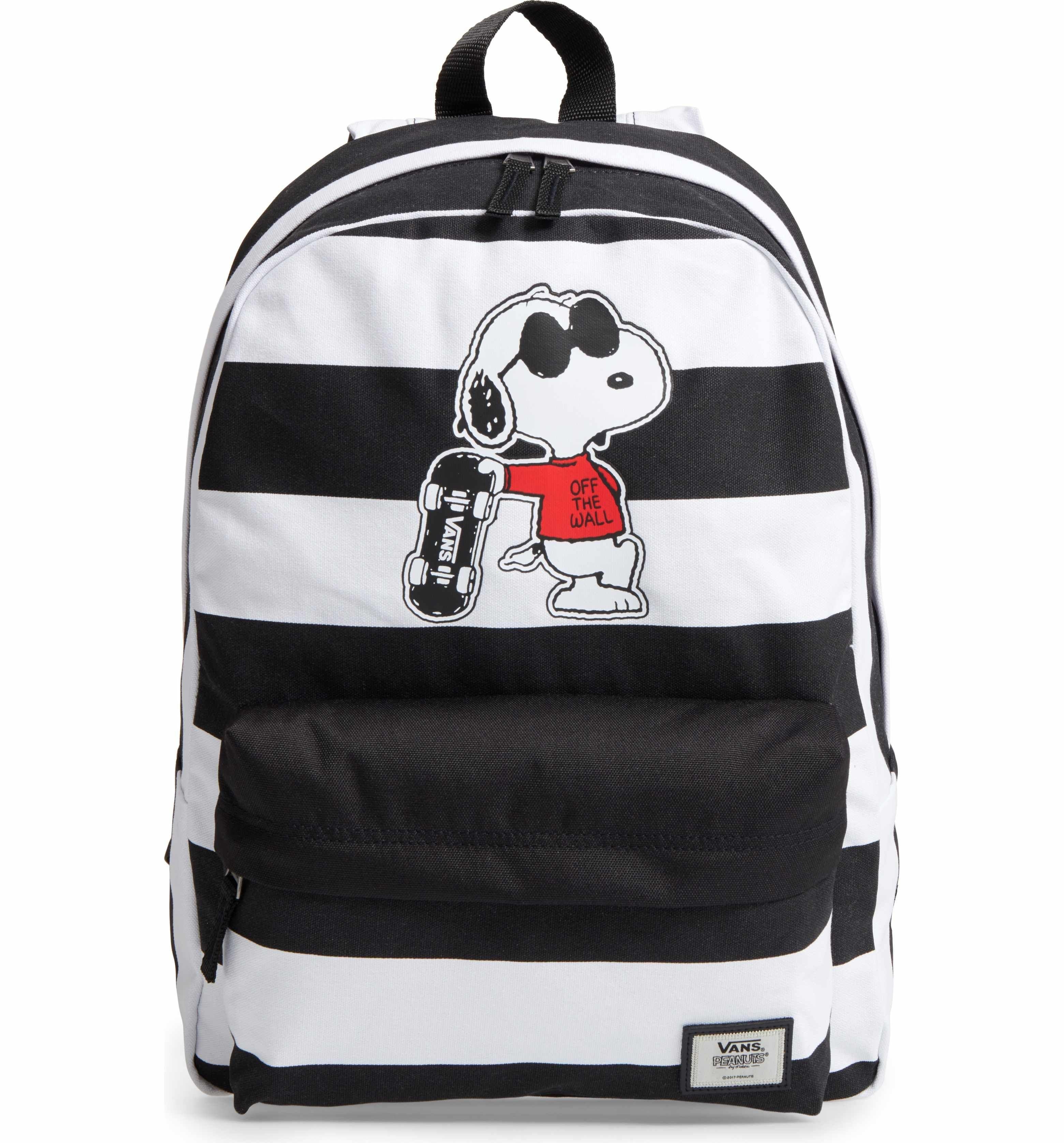 ed44aec52b2542 Main Image - Vans x Peanuts® Realm - Joe Cool Snoopy Backpack (Kids ...