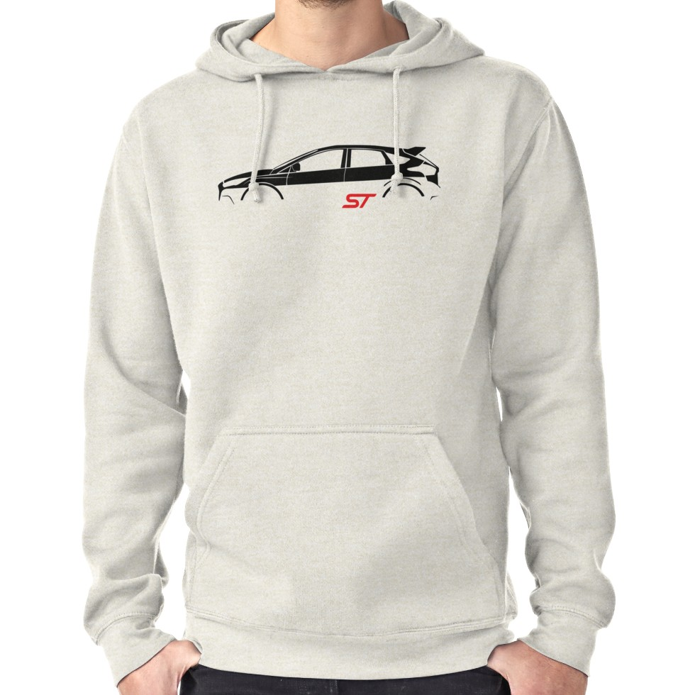 Ford Focus St Vector Hoodie Pullover By Alice Lavalle Hoodies Hoodie Shirt Pullover Hoodie