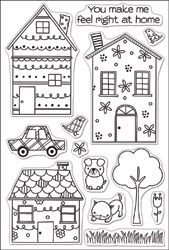 Hero Arts Clear Stamps 4X6 Sheet - Whimsical House Whimsical House Distributor