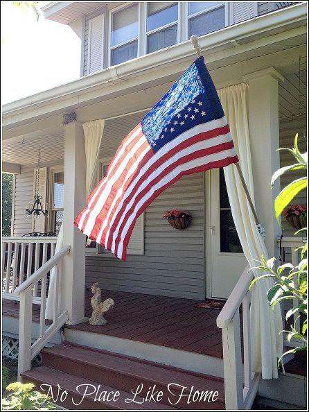 home display flag etiquette, curb appeal, decks, patriotic decor ideas, seasonal holiday decor