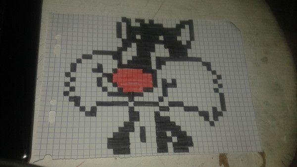 Gros Minet Jr Dessin Pixel Dessin Pixel Facile Et Pixel Art