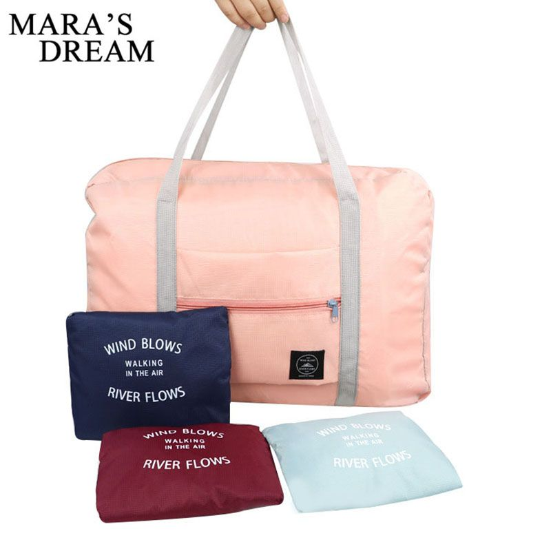 9bbe7e1516a0 Mara s Dream 2018 High Quality Folding Travel Bag Nylon Travel Bags Hand  Luggage For Men And Women New Fashion Duffle Bag Travel-in Travel Bags from  Luggage ...