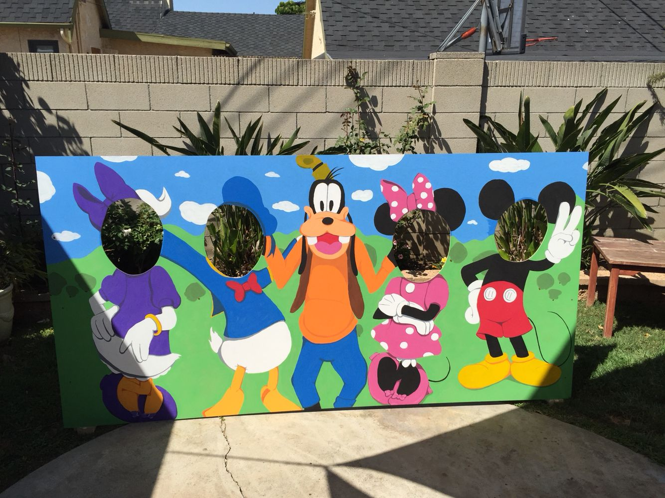 Mickey Mouse Clubhouse Photo Booth Cut Out Mickey Mouse Clubhouse