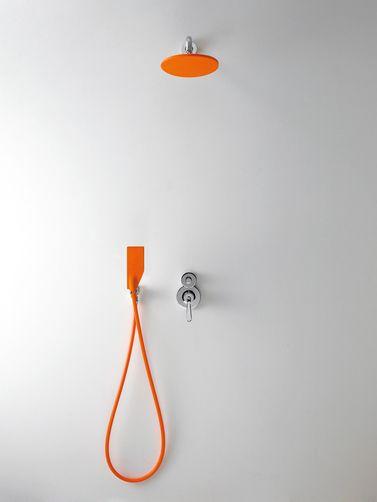 . Shower orange   Bath room    Bathing   Bathroom inspiration
