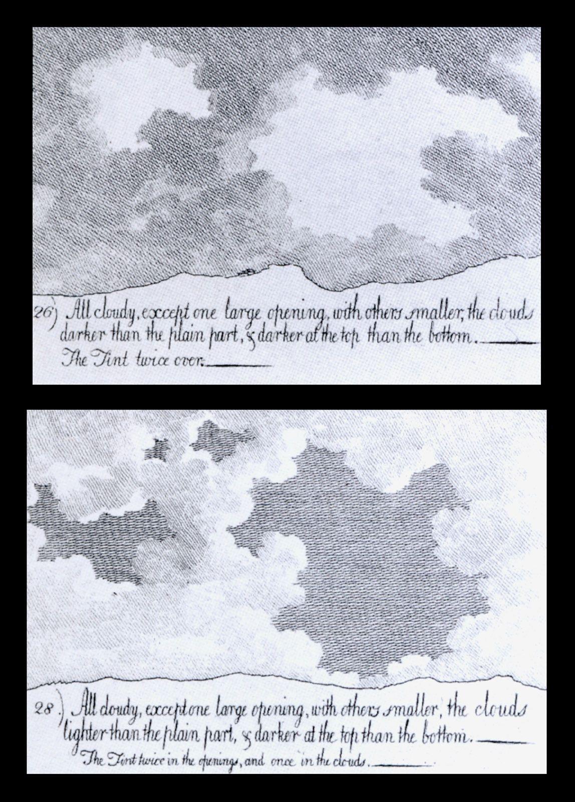 cozens 1717 1786 gravures de diff 233 rents types de ciel de 1784 224 1785 nuvole