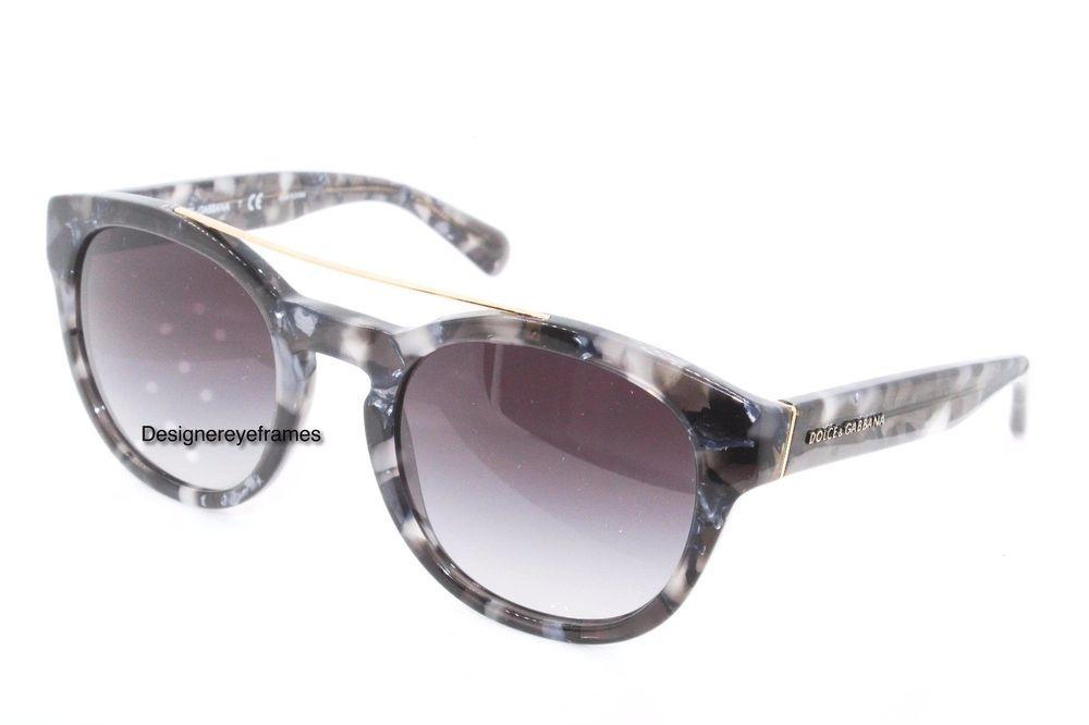 971b53718f7f DOLCE & GABBANA DG 4274 2933/8G Gray Marble Round Gray Grad Sunglasses NWC  AUTH #DolceGabbana #Round