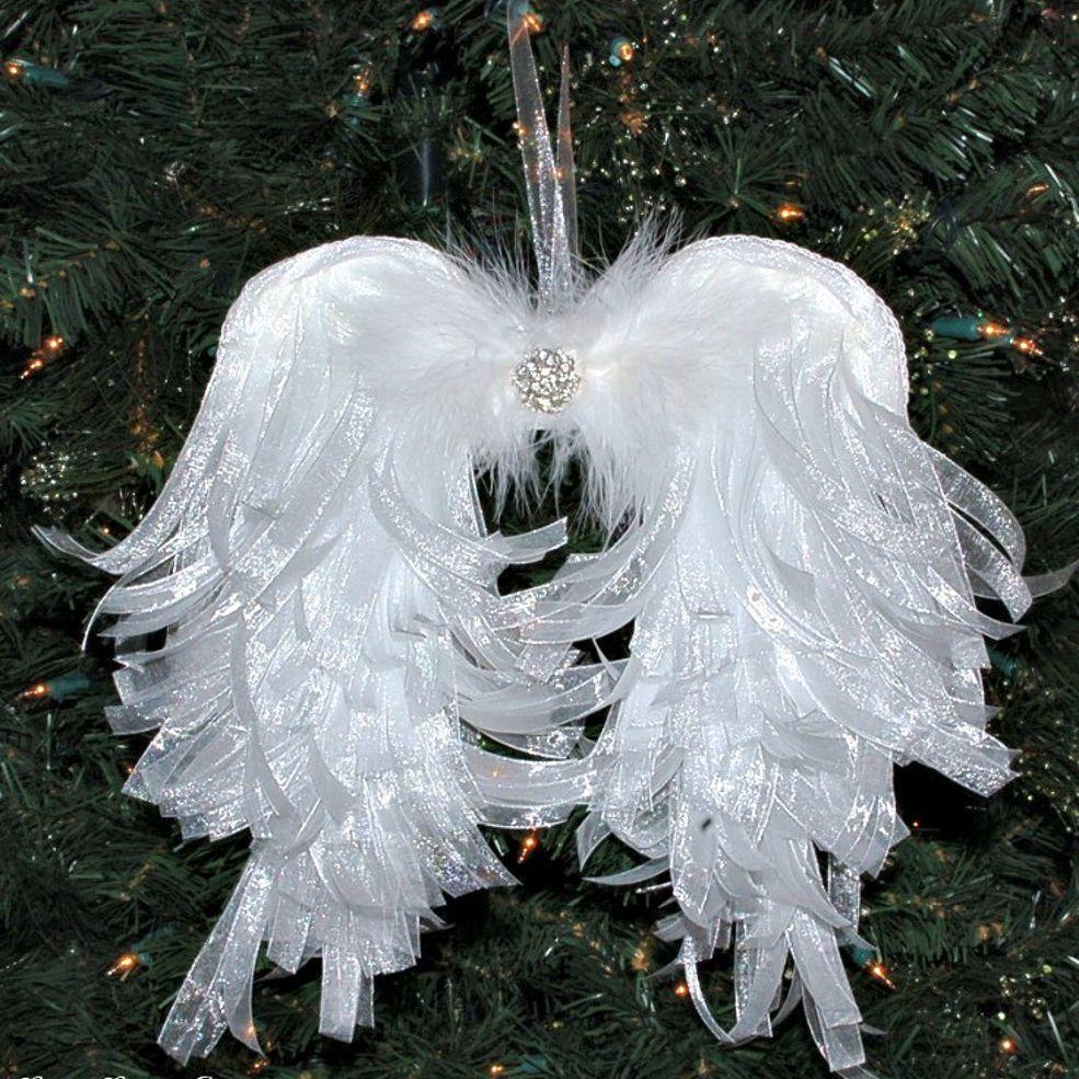 Angel Decorations To Make: DIY Angelic Organdy Ribbon Angel Wings
