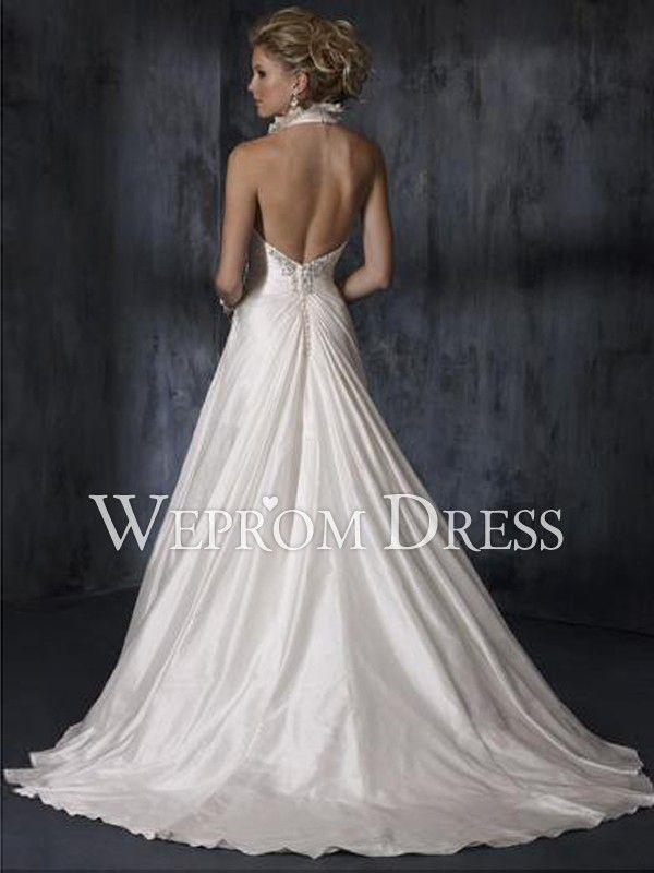 Backless Halter Wedding Dress Reviews