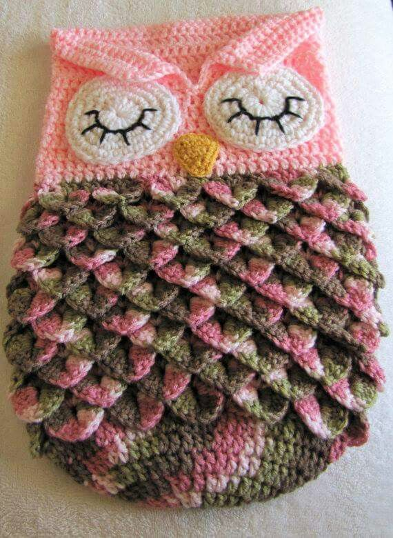 Owl cocoon - pinned for inspiration … | Crafts Crochet ideas | Pinte…