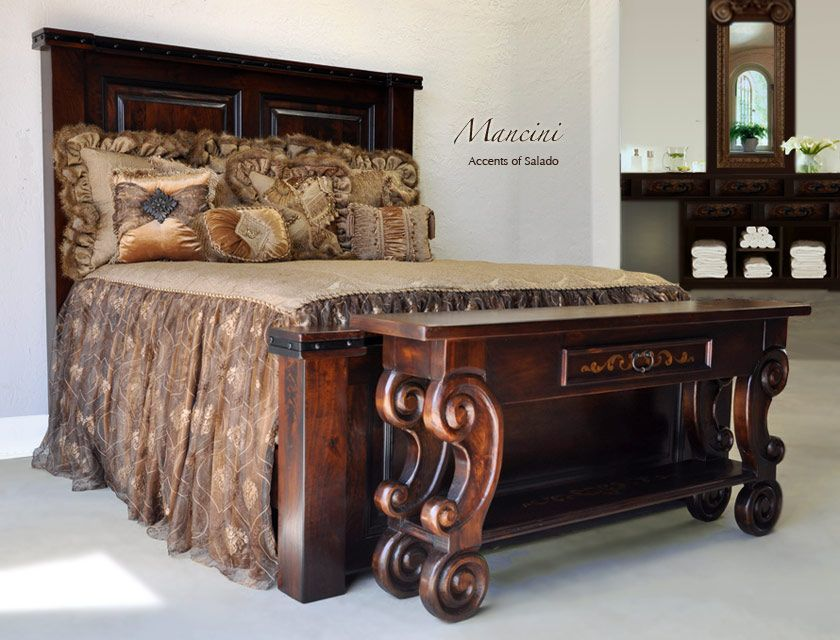 Lovely Mancini Collection King Bed.. Regalia Luxury Bedding ~ The Perfect Couple.  Accents Of