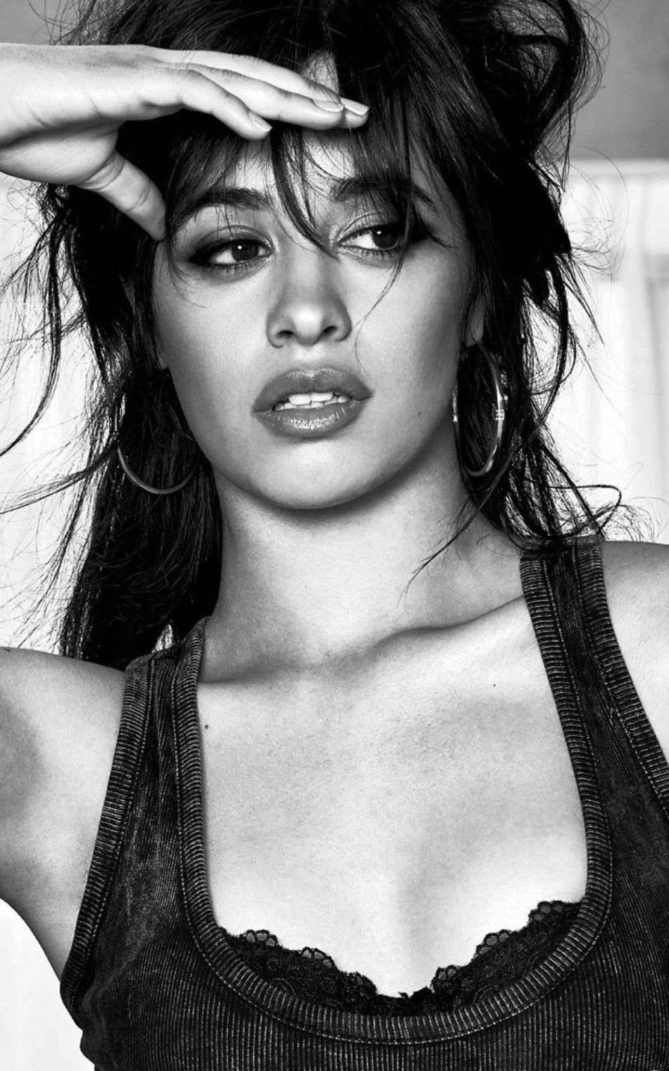 Camila Cabello Bw Hot Photoshoot 4k Ultra Hd Mobile Wallpaper Portrait Photography Women Photography Women Beautiful Girl Image
