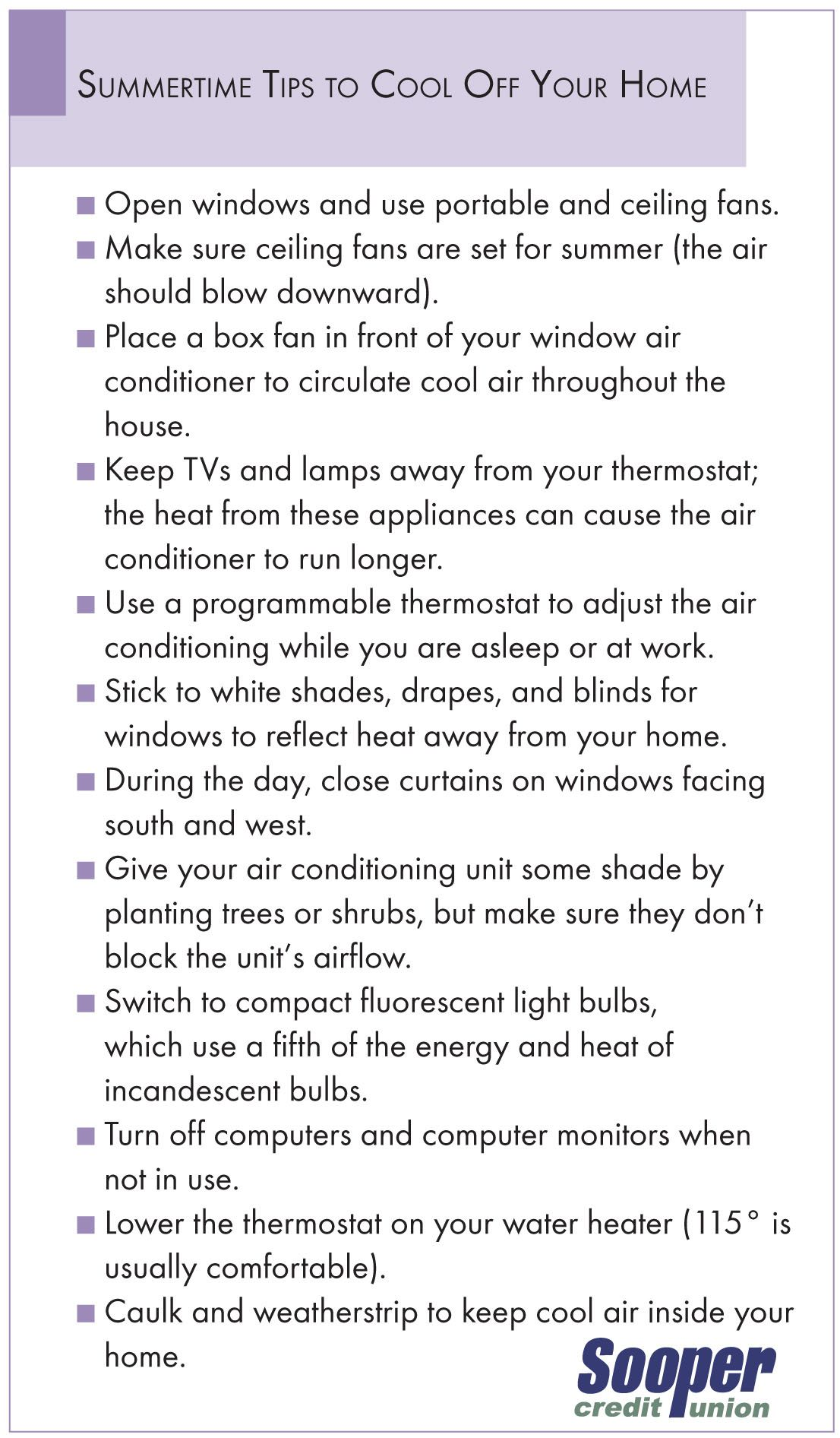 Summertime tips to cool your home! Financial wellness