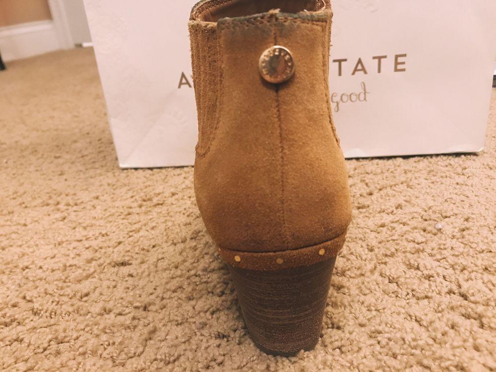 ab7134d1344 Steve Madden Womens 8 M Arrena Brown Suede/caramel Heels Ankle Boots ...
