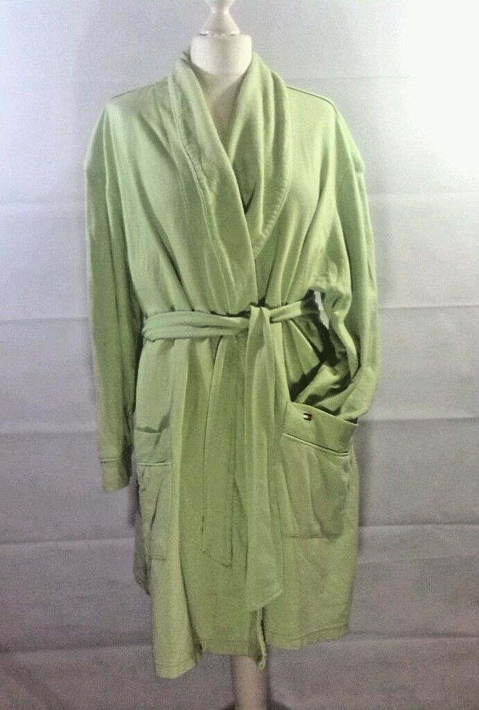 Ladies Tommy Hilfiger Sleepwear Lime Green Slouch Dressing Gown Robe ...