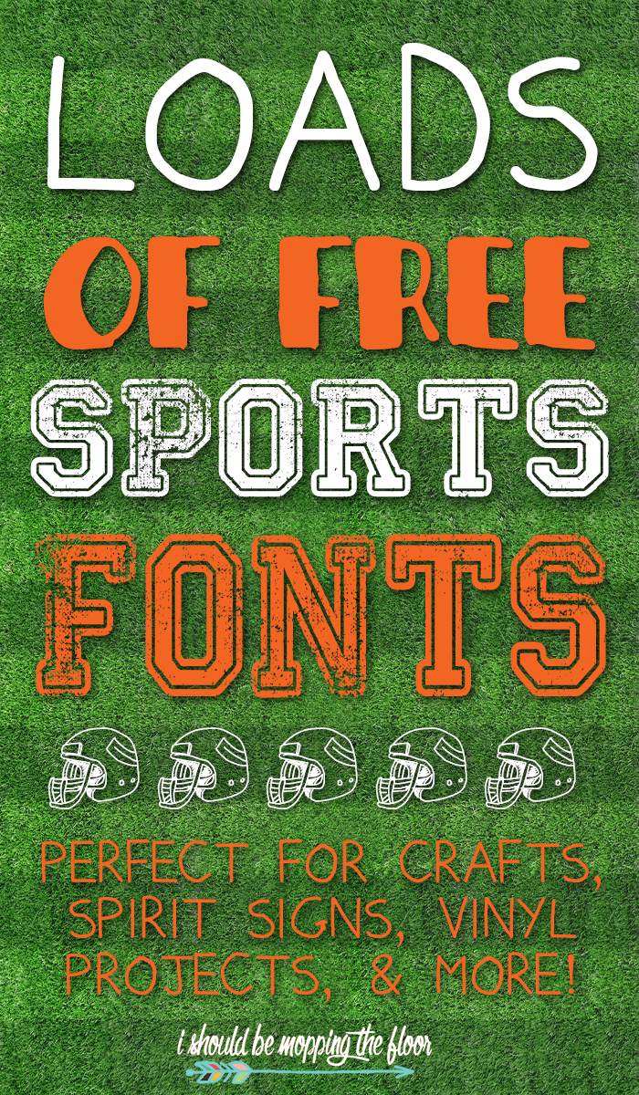 Free Sports Fonts | heat vinyl ideas | Free sports fonts