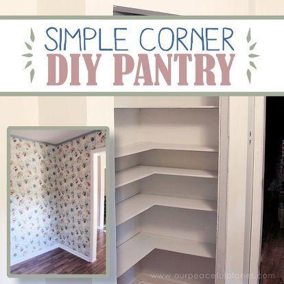 DIY Corner Pantry