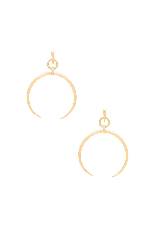 e6fcec4edfc05 Luv AJ Oversized Crescent Hoop Earrings in Antique Gold | Jewelry ...