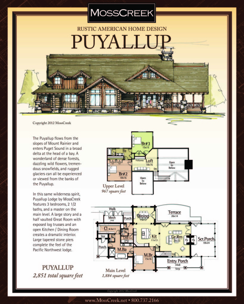 Timber Floor Plans: Rustic Wood Frame House Plans