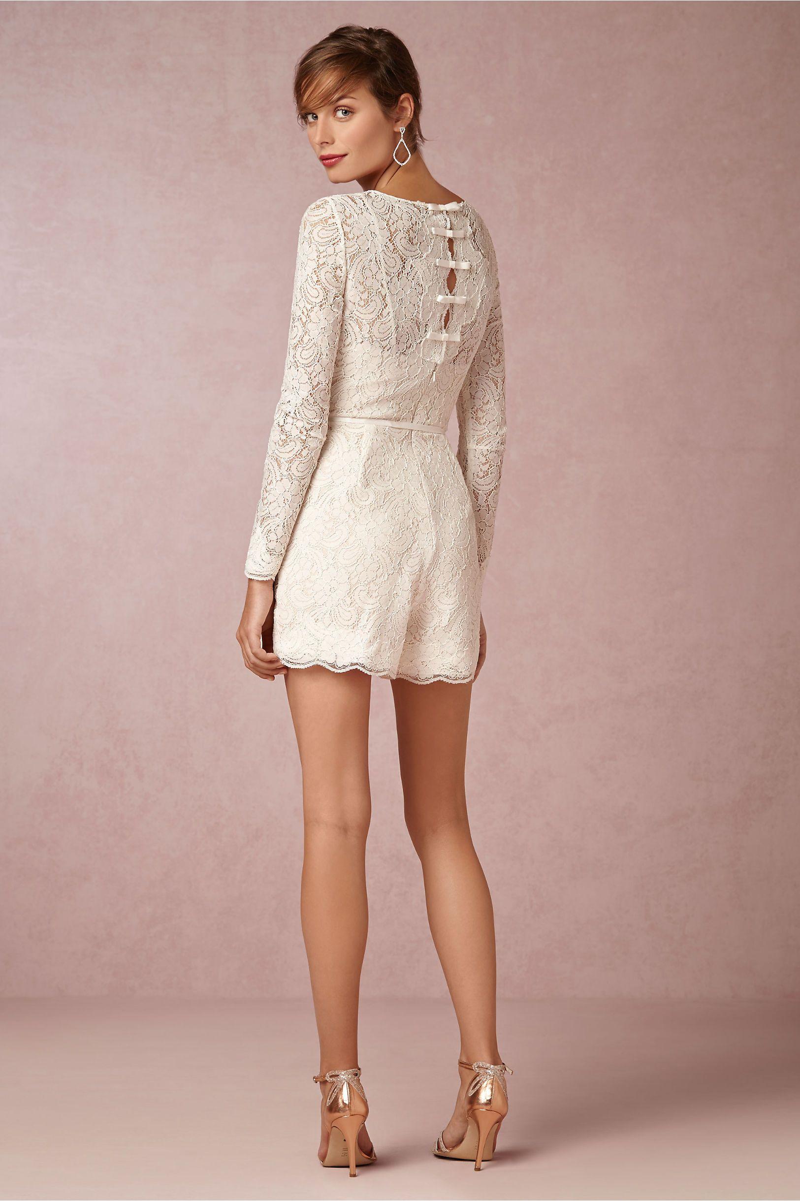 Prato Romper in Bride Reception Dresses at BHLDN cute, playful idea ...