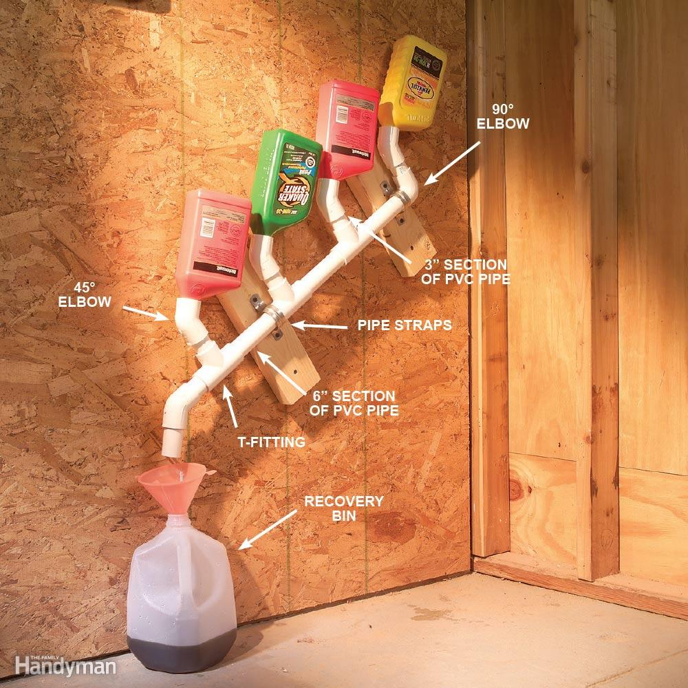 the 56 most brilliant pvc hacks you ve ever seen diy on cheap diy garage organization ideas to inspire you tips for clearing id=89164