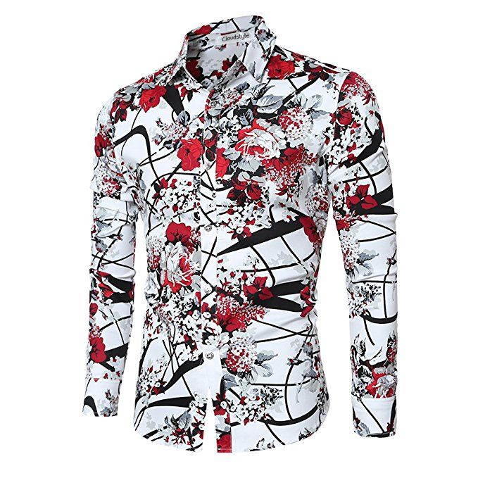 Cloudstyle Men's Shirt Stylish Slim Fit Button Down Long Sleeve Floral Shirt|Men's fashion|men's fashion casual|men's fashion summer|men's fashion urban|men's fashion beach|men's fashion classy|men's fashion style|men's fashion winter|men's fashion fall|black men's fashion men's fashion business|men's fashion hipster|men's fashion suits|men's fashion 2018|men's fashion tips|men's fashion rugged. #men's fashion 2018