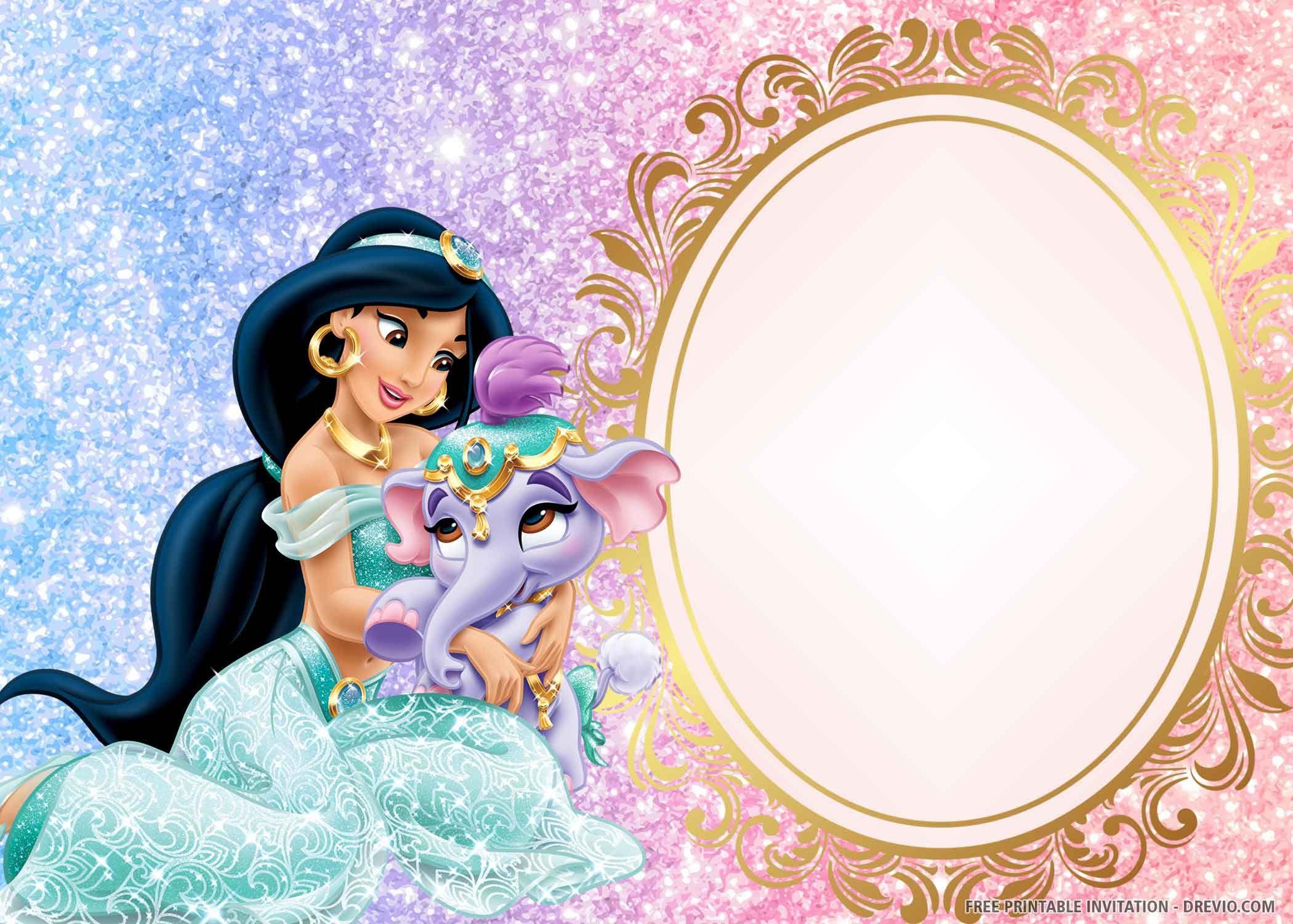 free printable princess jasmine